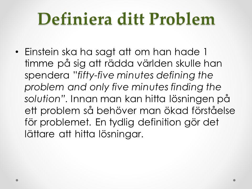 Definiera ditt Problem