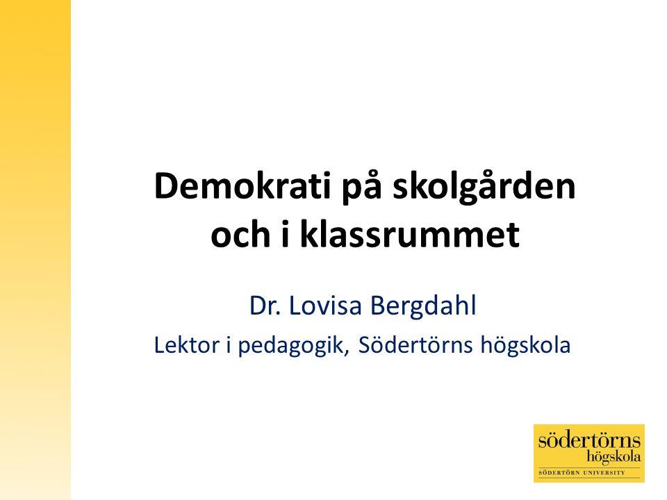 Demokrati på skolgården och i klassrummet