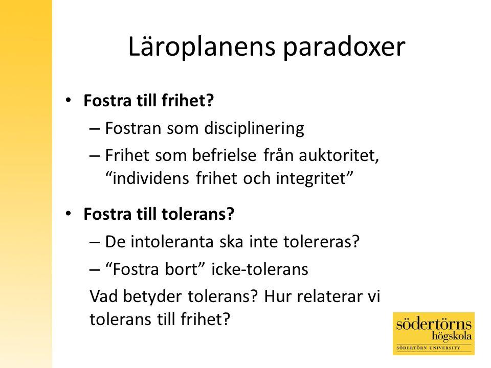 Läroplanens paradoxer
