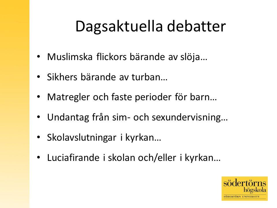 Dagsaktuella debatter