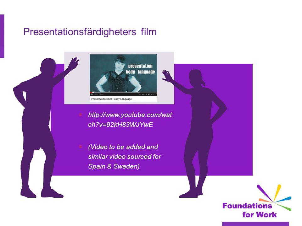 Presentationsfärdigheters film