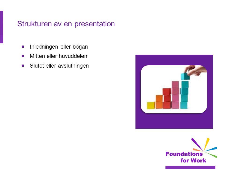 Strukturen av en presentation