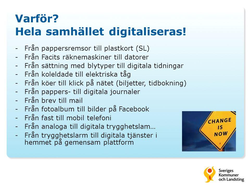 Varför Hela samhället digitaliseras!