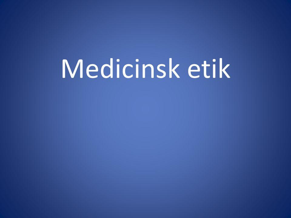 Medicinsk etik