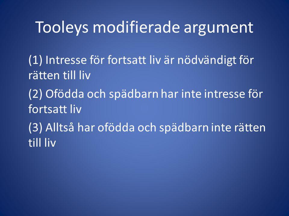 Tooleys modifierade argument