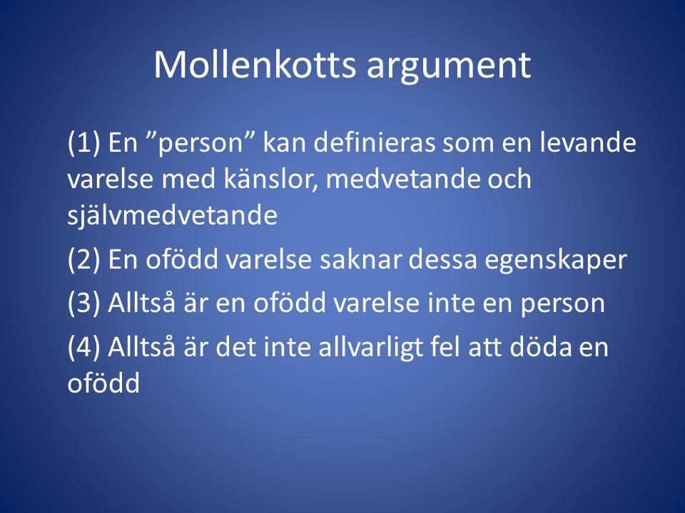 Mollenkotts argument