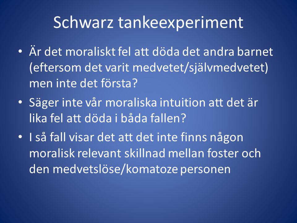 Schwarz tankeexperiment
