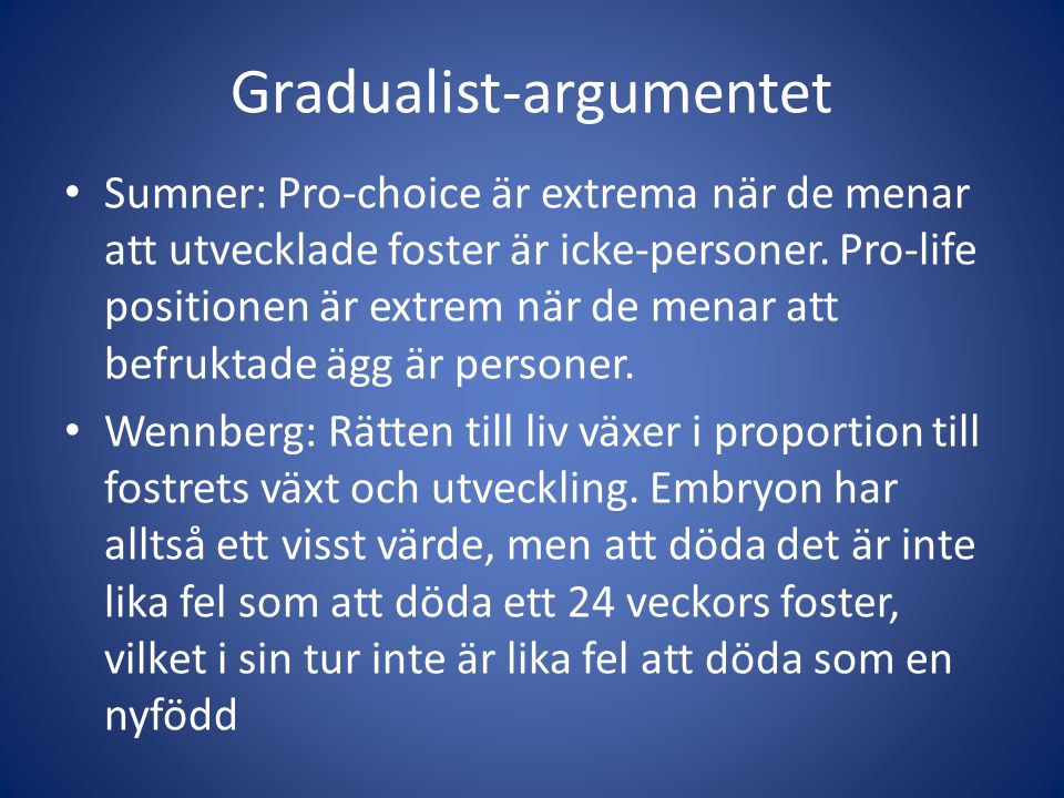 Gradualist-argumentet