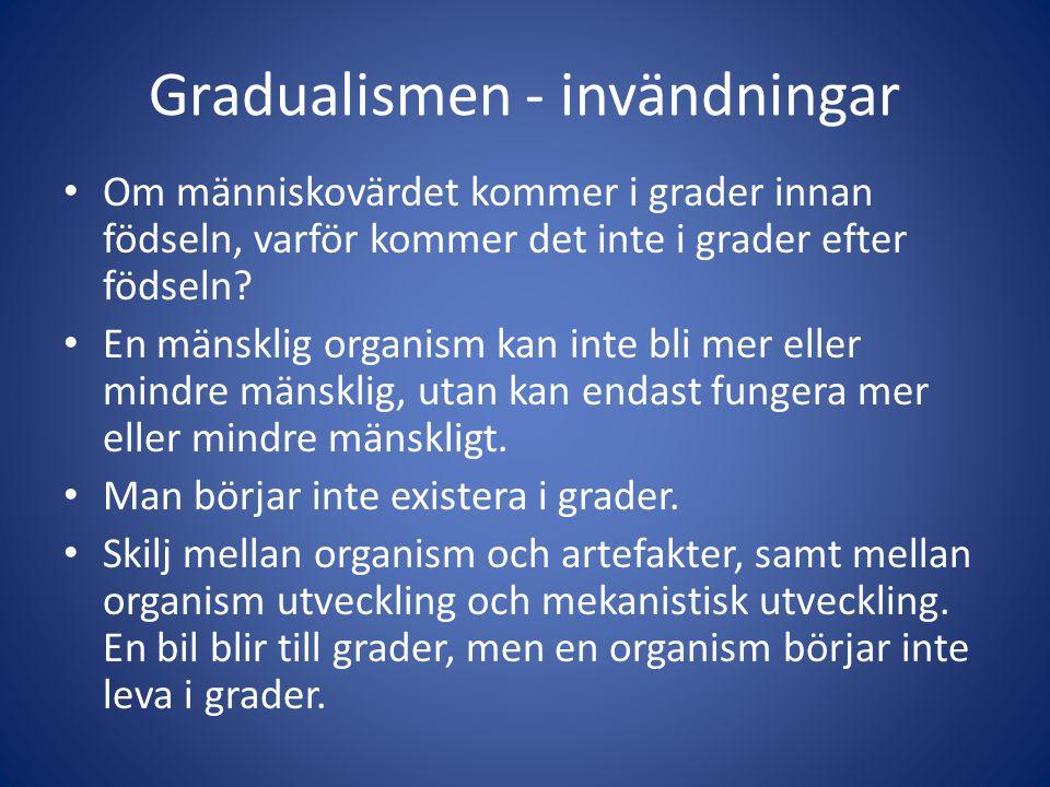 Gradualismen - invändningar