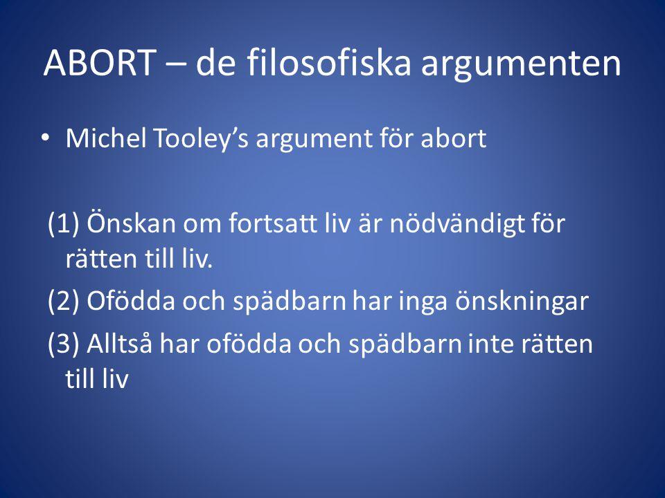 ABORT – de filosofiska argumenten