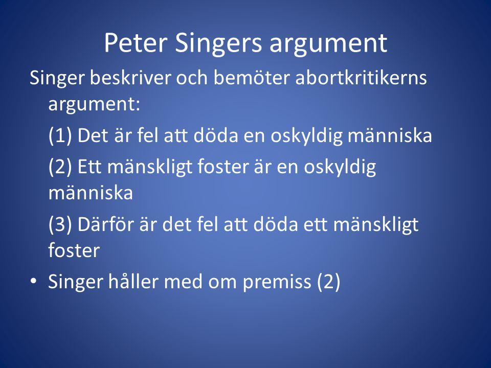 argument essay peter singer Free essay: in all animals are equal, singer argues for the equality of all animals, on the basis of an argument by analogy with various.