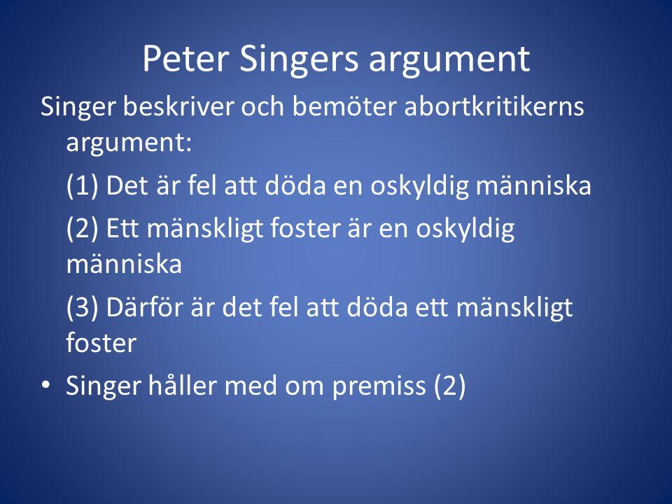 Peter Singers argument