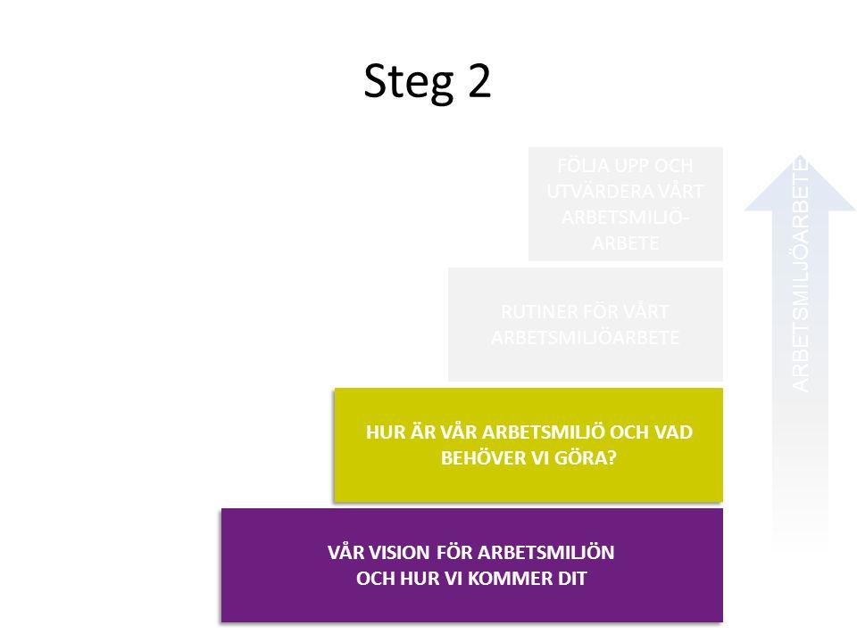 Steg 2 ARBETSMILJÖARBETE I VARDAGEN