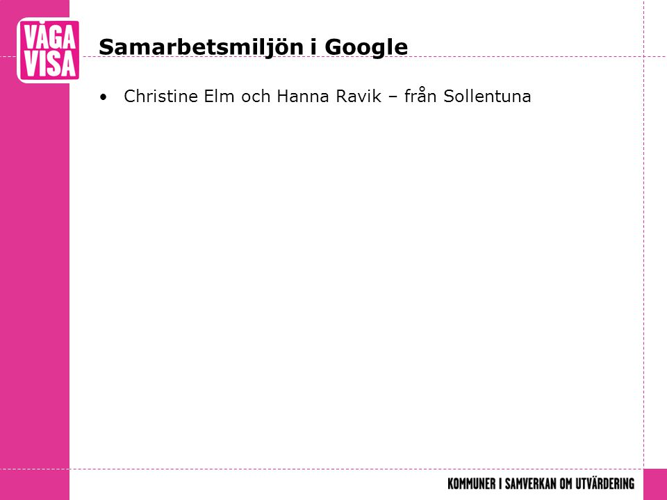 Samarbetsmiljön i Google