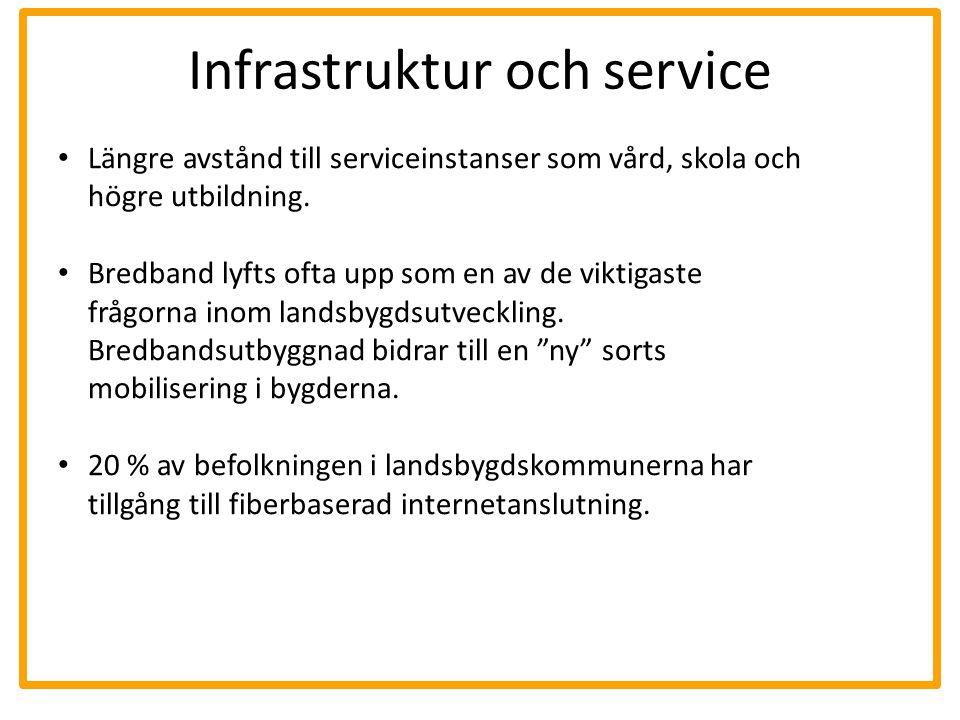 Infrastruktur och service