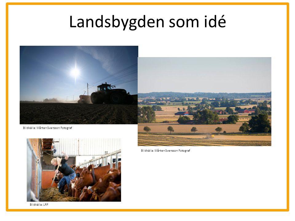 Landsbygden som idé Bildkälla: Mårten Svensson Fotograf