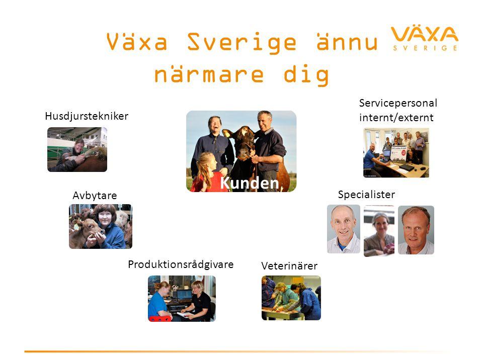 Växa Sverige ännu närmare dig Kunden Servicepersonal internt/externt