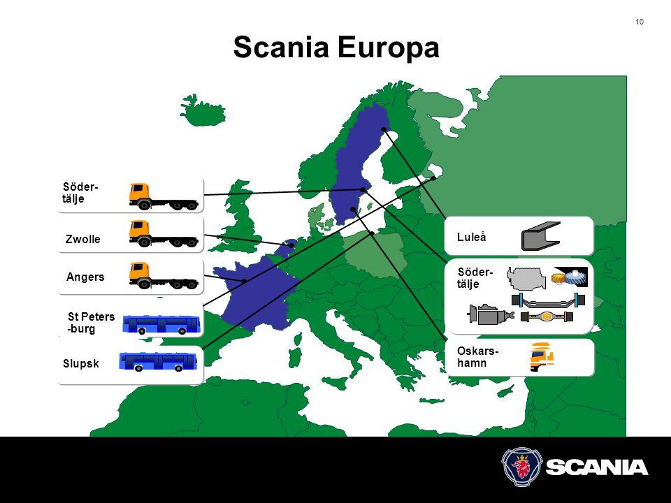 Scania Europa Söder- tälje Luleå Zwolle Söder- tälje Angers St Peters