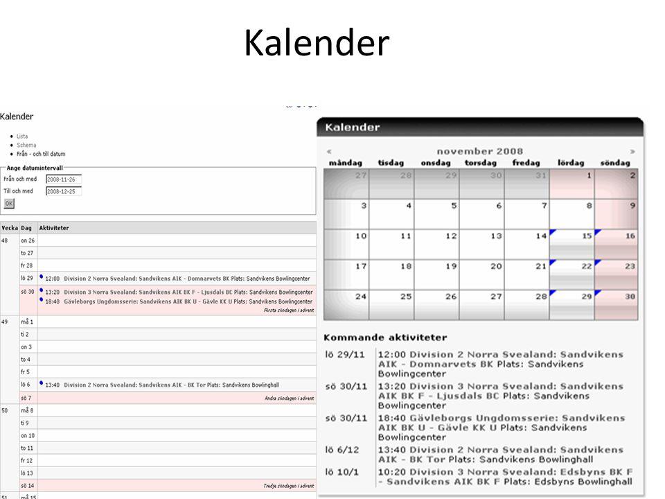 Kalender Kalender – version 2.0
