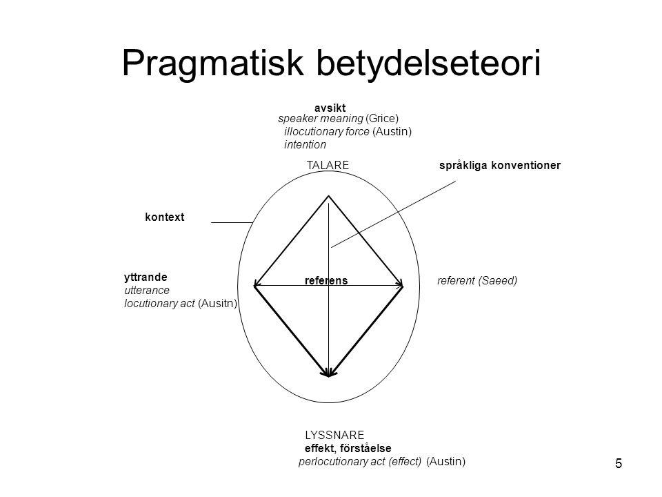 Pragmatisk betydelseteori