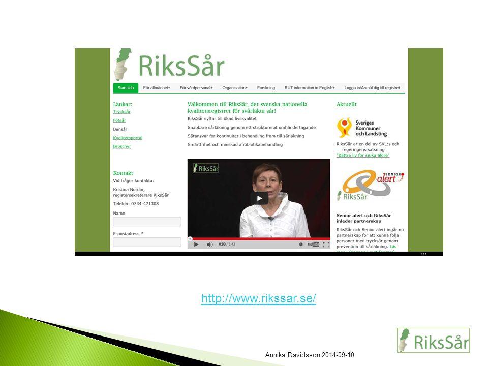 http://www.rikssar.se/ Annika Davidsson 2014-09-10