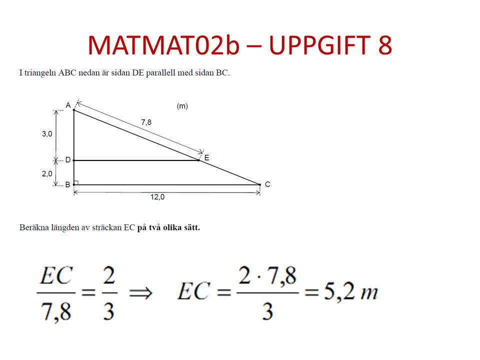 MATMAT02b – UPPGIFT 8