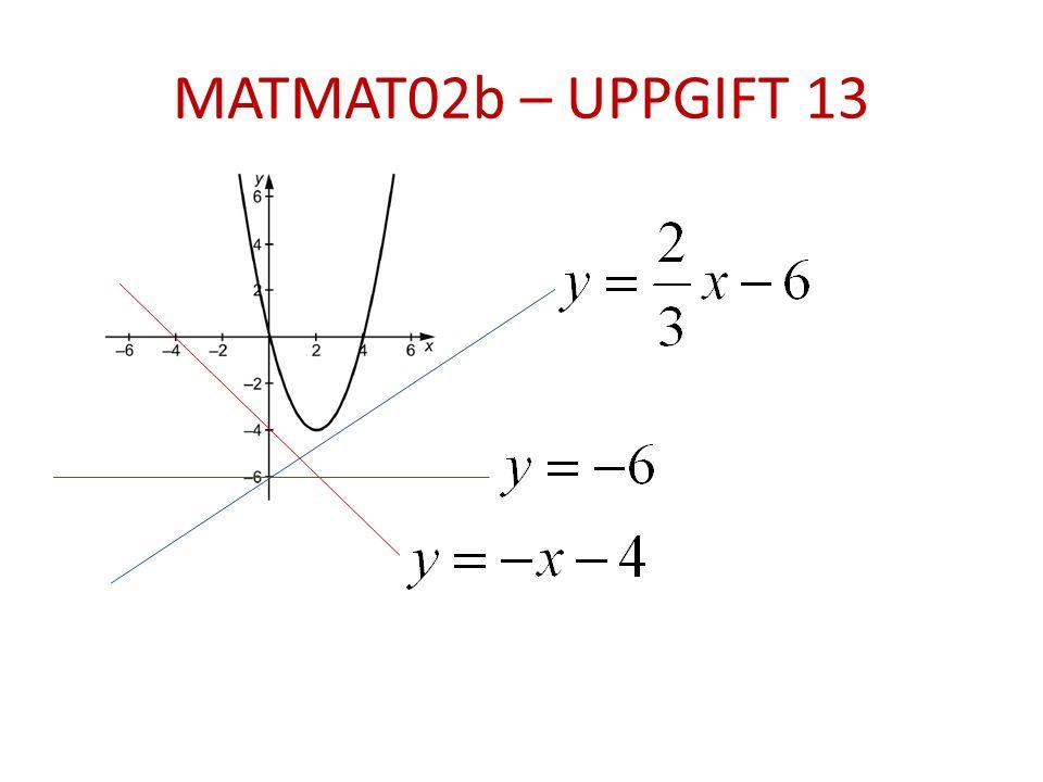 MATMAT02b – UPPGIFT 13