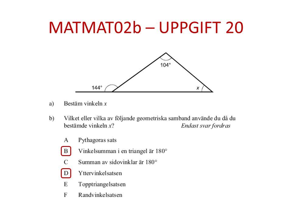 MATMAT02b – UPPGIFT 20