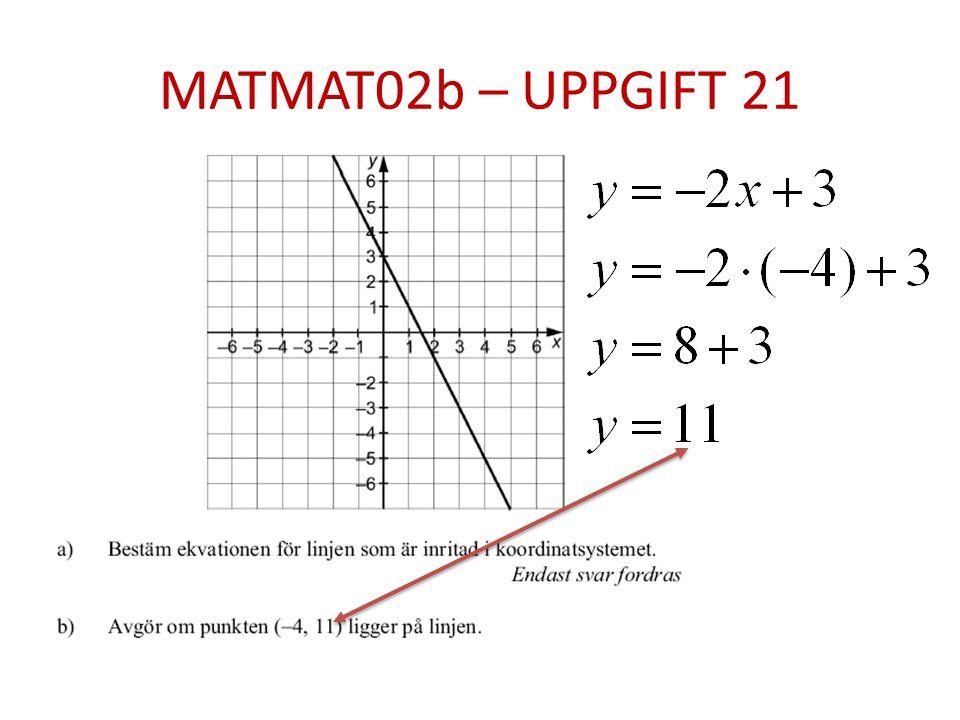 MATMAT02b – UPPGIFT 21
