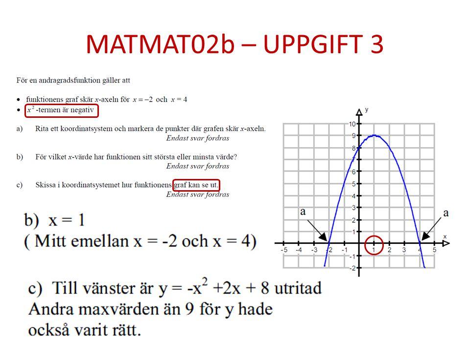 MATMAT02b – UPPGIFT 3