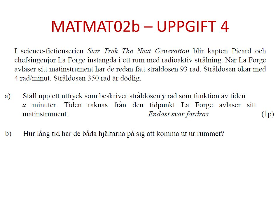 MATMAT02b – UPPGIFT 4