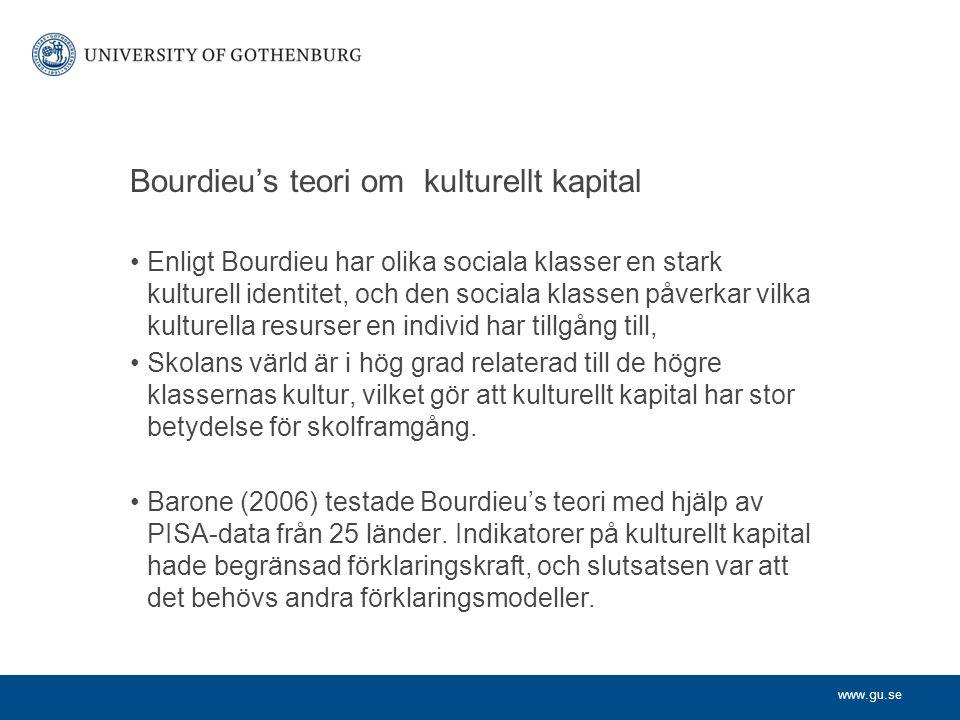 Bourdieu's teori om kulturellt kapital