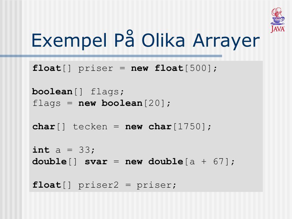 Exempel På Olika Arrayer