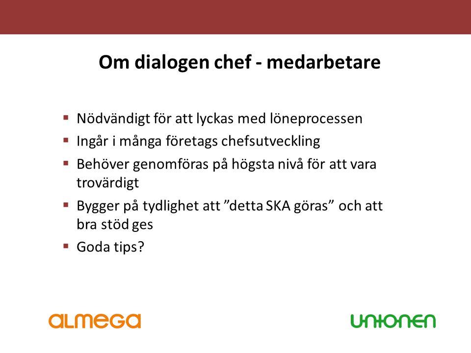 Om dialogen chef - medarbetare