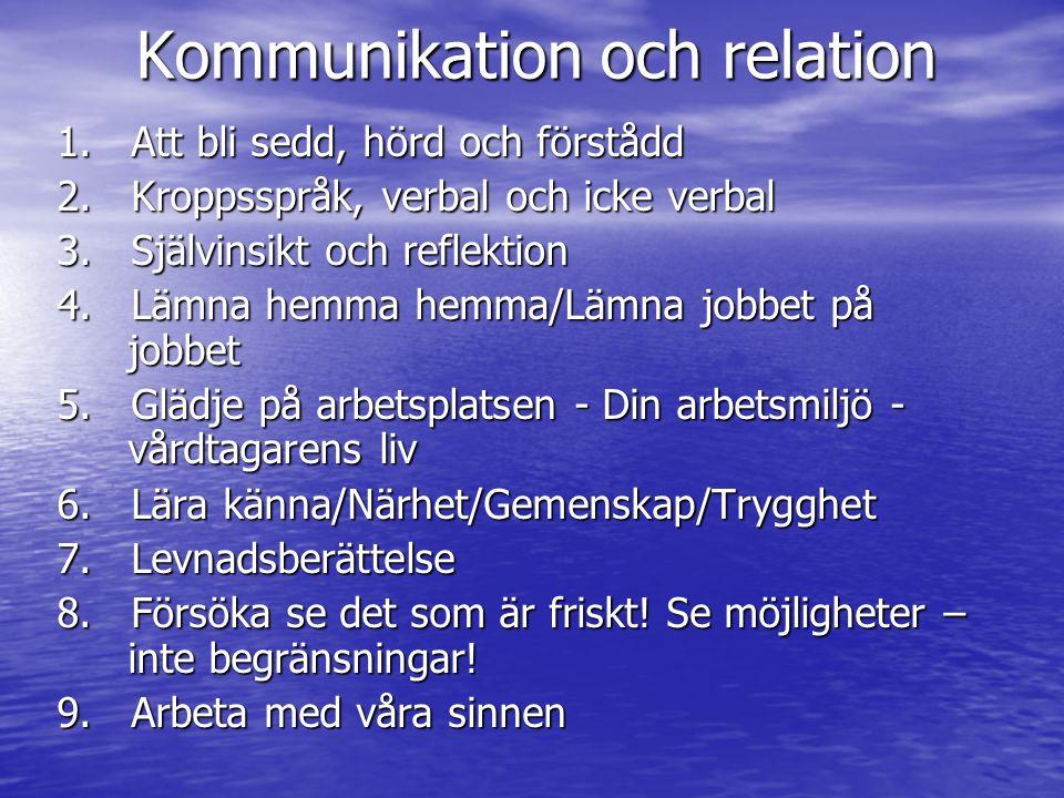 Kommunikation och relation