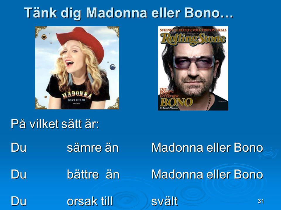 Tänk dig Madonna eller Bono…
