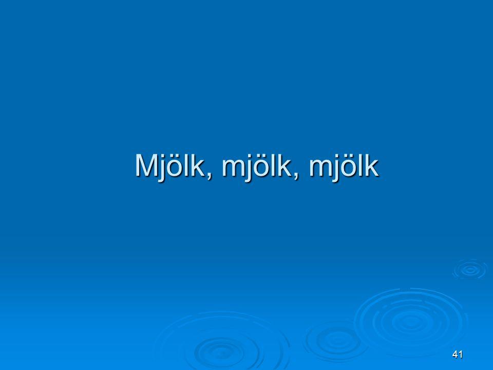 Mjölk, mjölk, mjölk
