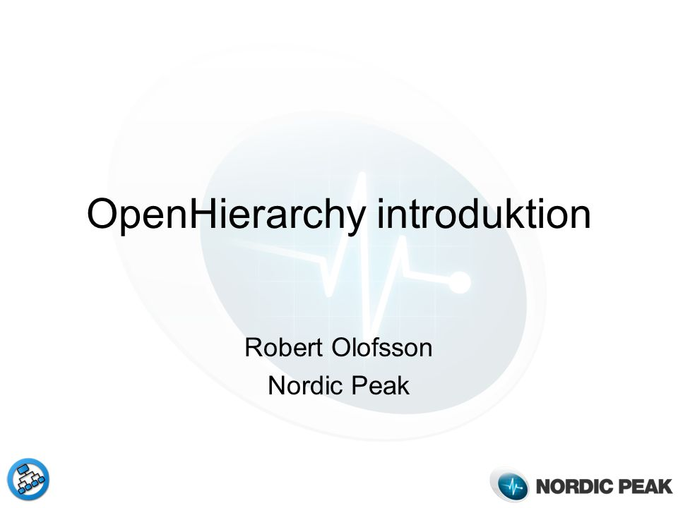 OpenHierarchy introduktion