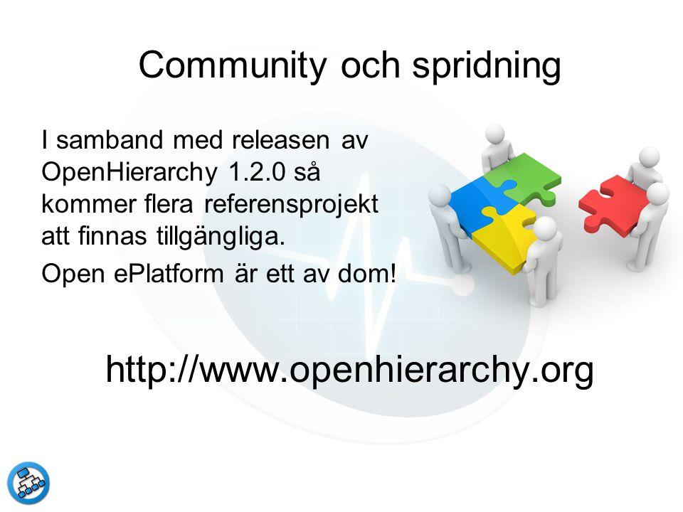 Community och spridning