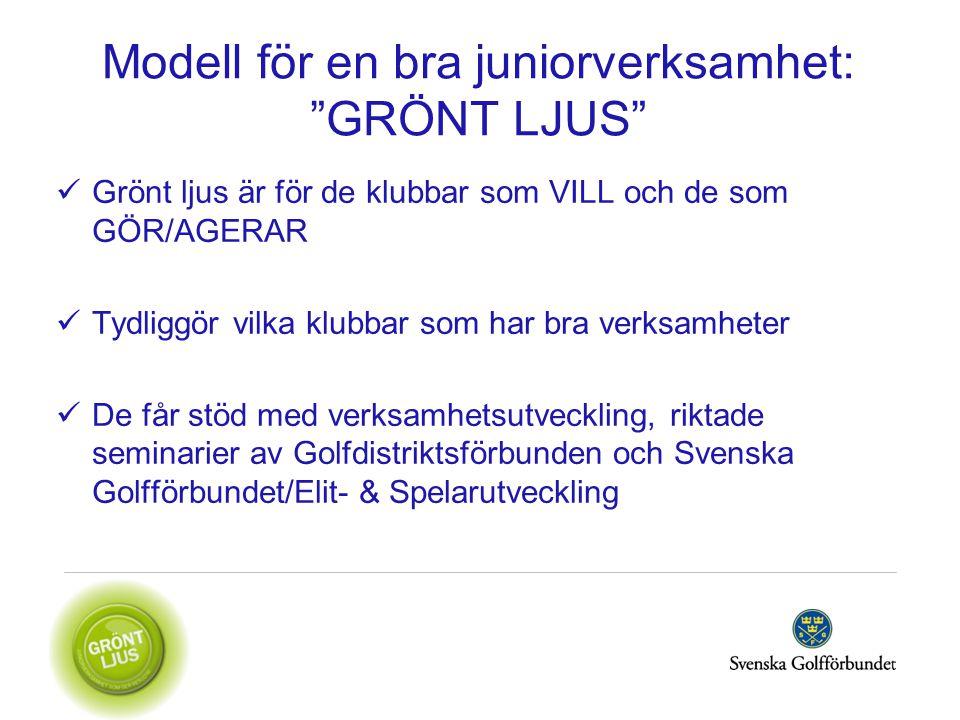 Modell för en bra juniorverksamhet: GRÖNT LJUS