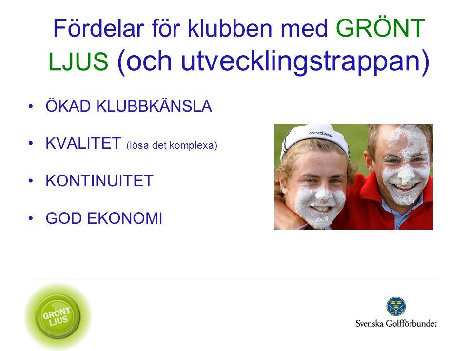Fördelar för klubben med GRÖNT LJUS (och utvecklingstrappan)