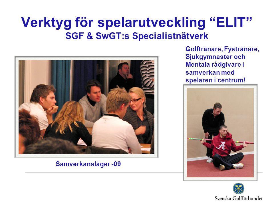 Verktyg för spelarutveckling ELIT SGF & SwGT:s Specialistnätverk