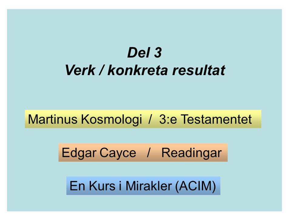 Verk / konkreta resultat