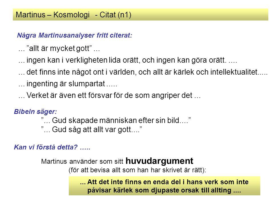 Martinus – Kosmologi - Citat (n1)