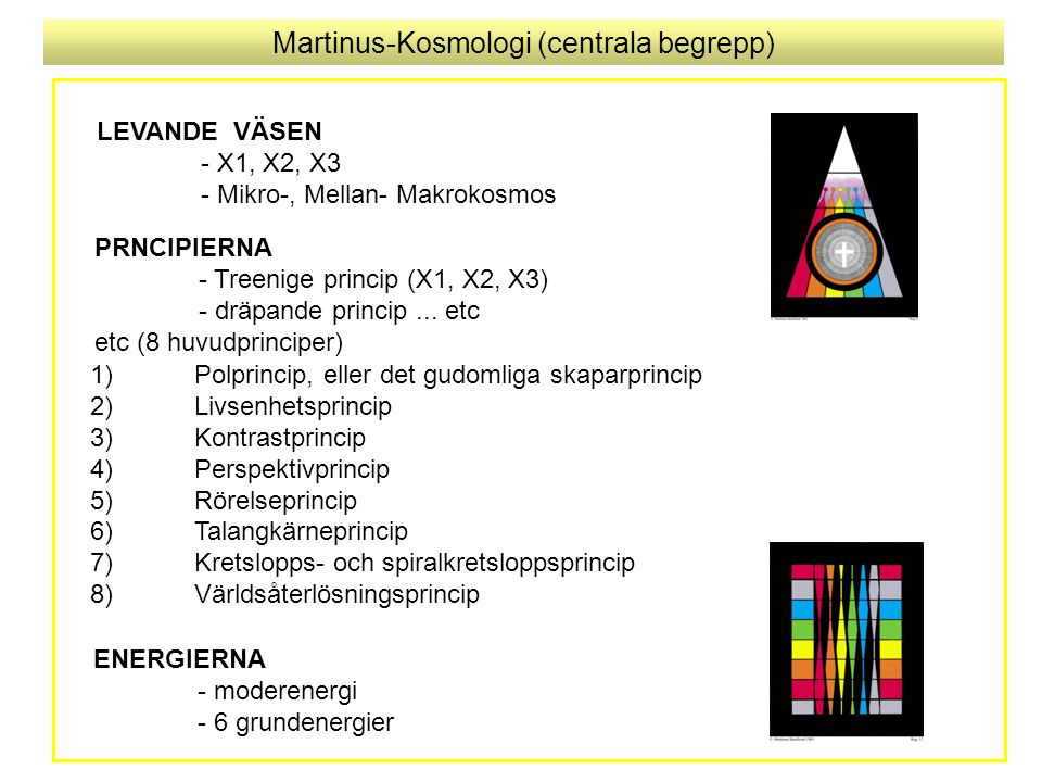 Martinus-Kosmologi (centrala begrepp)