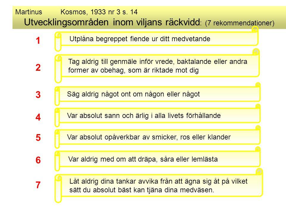 Utvecklingsområden inom viljans räckvidd: (7 rekommendationer)
