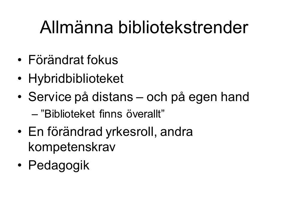 Allmänna bibliotekstrender