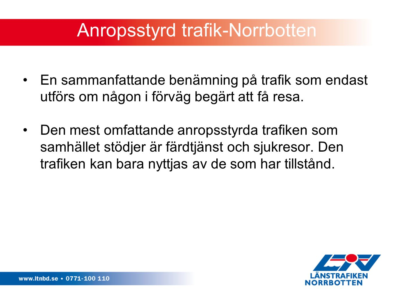 Anropsstyrd trafik-Norrbotten