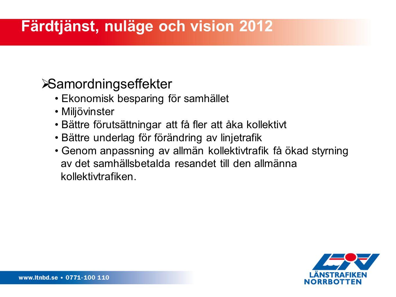 Färdtjänst, nuläge och vision 2012