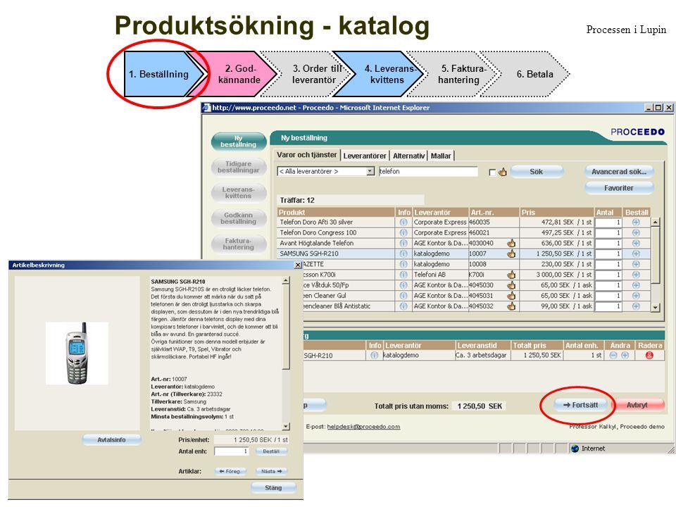 Produktsökning - katalog